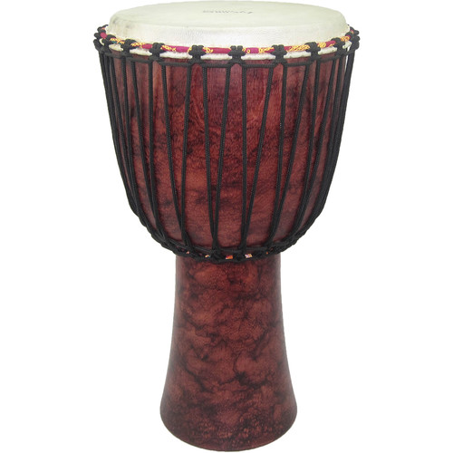 "Tycoon Percussion 10"" Rope-Tuned Djembe (Red Marble)"