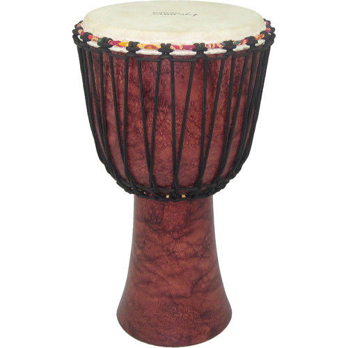 "Tycoon Percussion 12"" Rope-Tuned Djembe (Red Marble)"