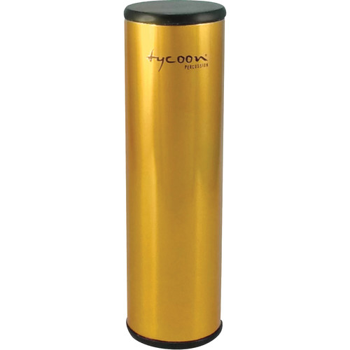 "Tycoon Percussion 2.5 x 8.5"" Aluminum Shaker (Gold-plated Shell)"