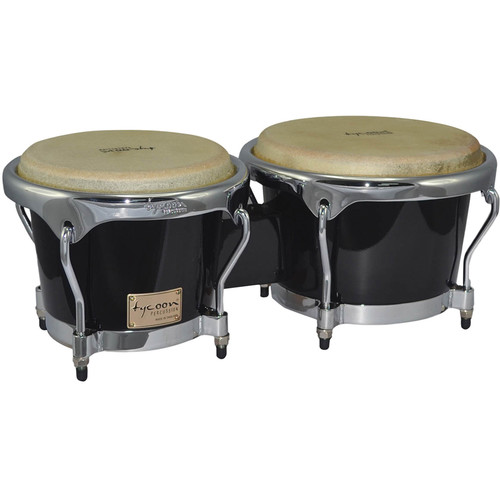 "Tycoon Percussion 7"" & 8.5"" Master Series Bongo Set (Black)"