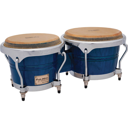"Tycoon Percussion 7"" & 8.5"" Concerto Series Bongo Set (Blue)"