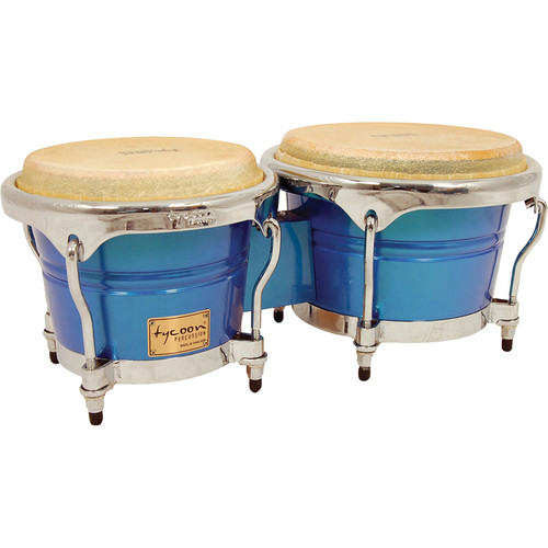 "Tycoon Percussion 7"" & 8.5"" Concerto Series Bongo Set (Blue Spectrum)"