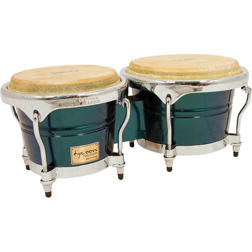 "Tycoon Percussion 7"" & 8.5"" Concerto Series Bongo Set (Green Spectrum)"