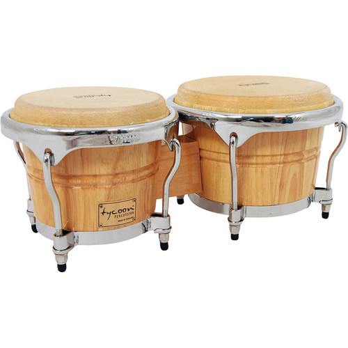 "Tycoon Percussion 7"" & 8.5"" Concerto Series Bongo Set (Natural)"