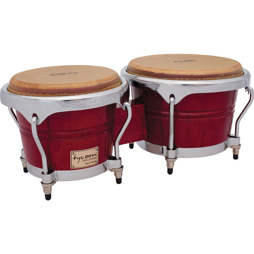 "Tycoon Percussion 7"" & 8.5"" Concerto Series Bongo Set (Red)"