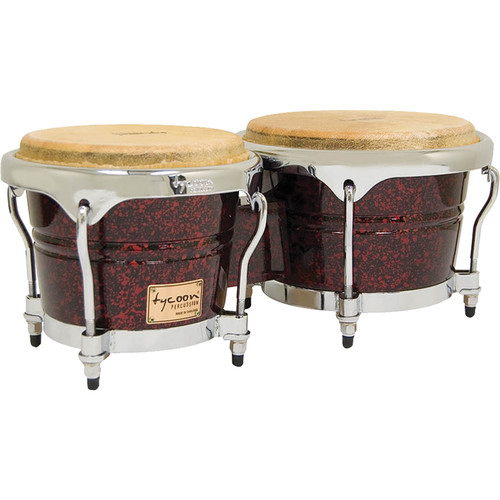 "Tycoon Percussion 7"" & 8.5"" Concerto Series Bongo Set (Red Pearl)"