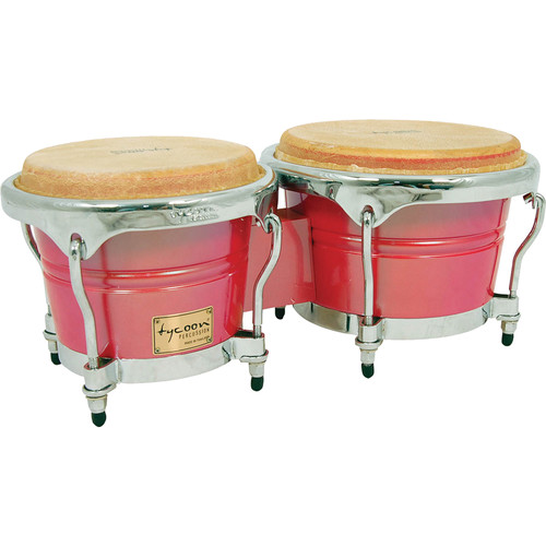 "Tycoon Percussion 7"" & 8.5"" Concerto Series Bongo Set (Red Spectrum)"