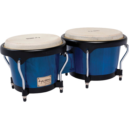 "Tycoon Percussion 7"" & 8.5"" Artist Series Bongo Set (Blue)"