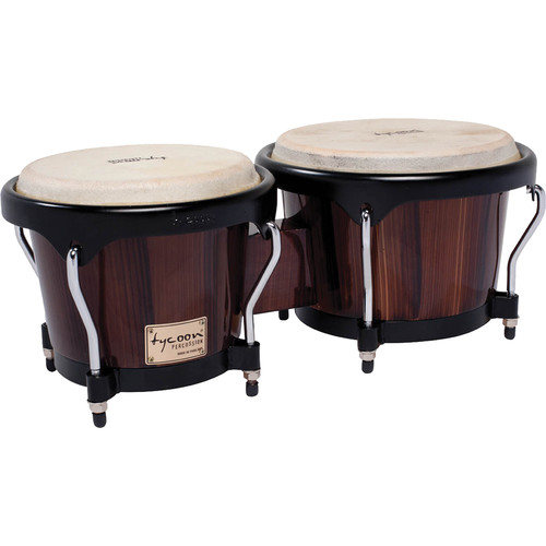 "Tycoon Percussion 7"" & 8.5"" Artist Series Bongo Set (Hand-Painted Brown)"