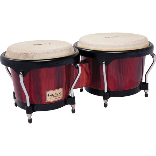 "Tycoon Percussion 7"" & 8.5"" Artist Series Bongo Set (Hand-Painted Red)"