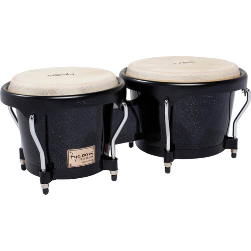 "Tycoon Percussion 7"" & 8.5"" Artist Series Bongo Set (Metallic Black)"
