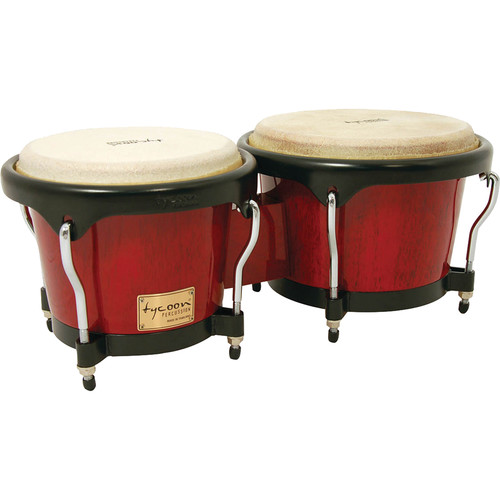 """Tycoon Percussion 7"""" & 8.5"""" Artist Series Bongo Set (Red)"""
