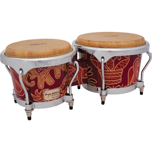 "Tycoon Percussion 7"" & 8.5"" Master Series Bongo Set (Fantasy Siam)"