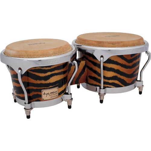 "Tycoon Percussion 7"" & 8.5"" Master Series Bongo Set (Fantasy Tiger)"
