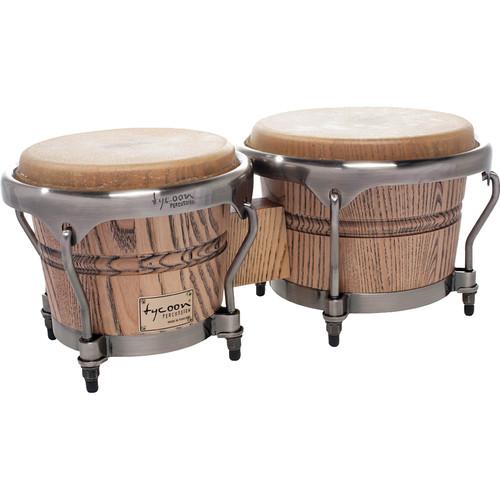 "Tycoon Percussion 7"" & 8.5"" Master Grand Bongo Set (Natural)"
