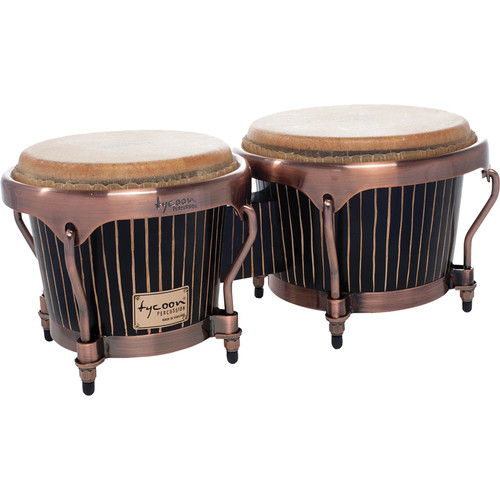 "Tycoon Percussion 7"" & 8.5"" Master Hand-Crafted Bongo Set (Pinstripe)"
