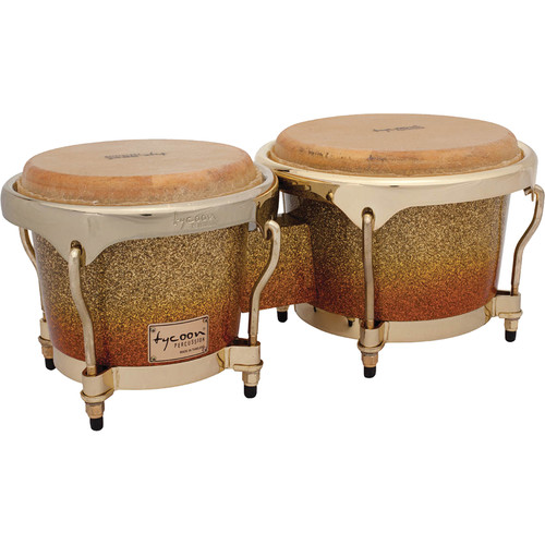 "Tycoon Percussion 7"" & 8.5"" Master Series Bongo Set (Platinum Sunrise Fade)"