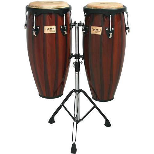 "Tycoon Percussion 10"" & 11"" Artists Hand Painted Series Congas (Brown)"