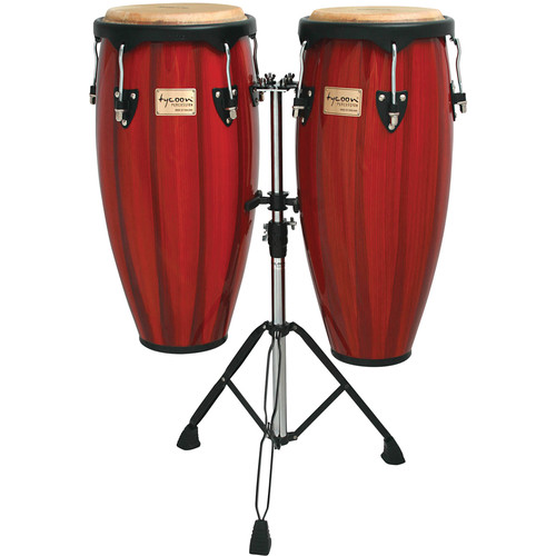 "Tycoon Percussion 10"" & 11"" Artists Hand Painted Series Congas (Red)"