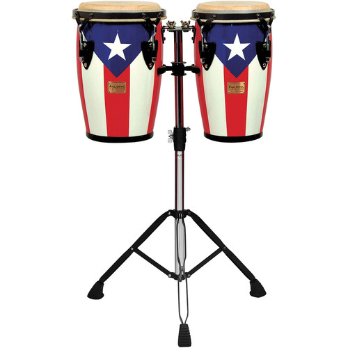 "Tycoon Percussion 8"" & 9"" Junior Congas (Puerto Rican Flag)"