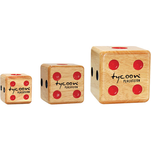 Tycoon Percussion 3 Dice Shakers (Small, Medium, Large)