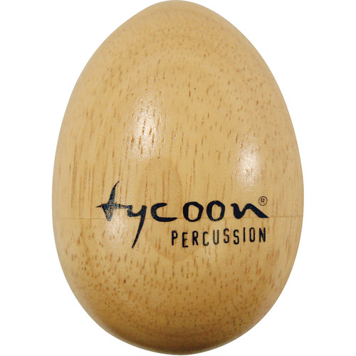 Tycoon Percussion Large Wooden Egg Shakers (Brown)