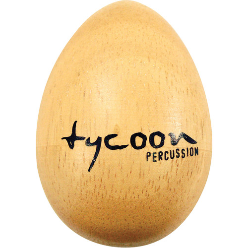 Tycoon Percussion Small Wooden Egg Shakers (Brown)