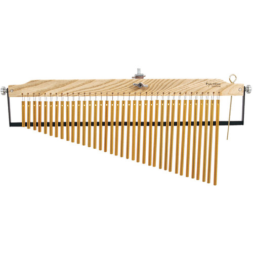 Tycoon Percussion 36 Gold Plated Master Grand Series Bar Chimes on Ash Wood