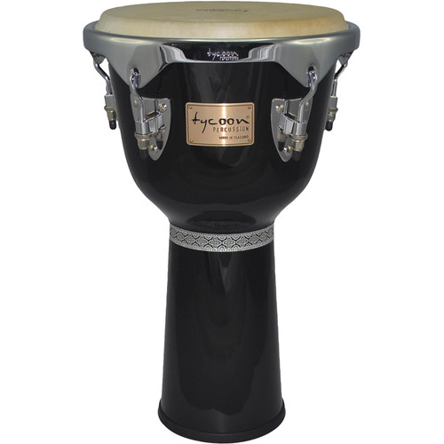 "Tycoon Percussion 12"" Master Series Djembe (Black)"