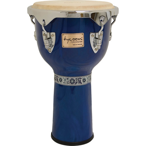 "Tycoon Percussion 12"" Concerto Series Djembe (Blue)"