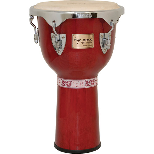 "Tycoon Percussion 12"" Concerto Series Djembe (Red)"