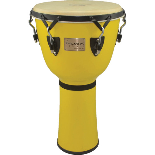 "Tycoon Percussion 14"" Canary Burst Key-Tuned Djembe"