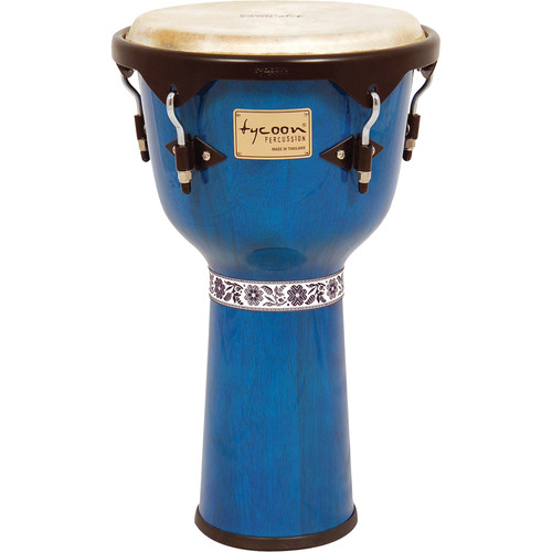 "Tycoon Percussion 12"" Artist Series Djembe (Blue)"