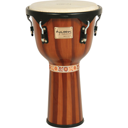 "Tycoon Percussion 12"" Artist Series Djembe (Hand Painted Brown)"