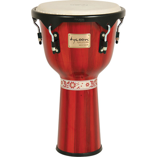 "Tycoon Percussion 12"" Artist Series Djembe (Hand Painted Red)"