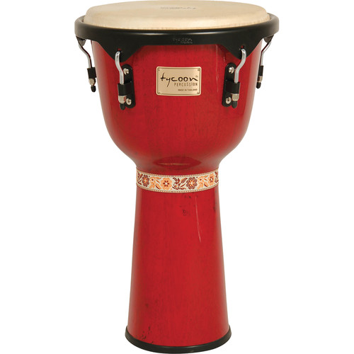 "Tycoon Percussion 12"" Artist Series Djembe (Red)"
