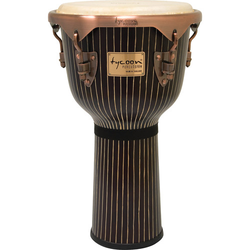 "Tycoon Percussion 12"" Master Hand-Crafted Series Djembe (Pinstripe)"