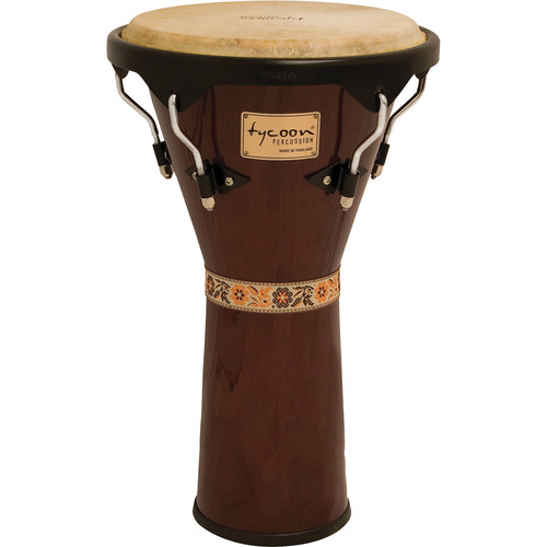 "Tycoon Percussion 12"" Supremo Series Djembe (Mahogany)"