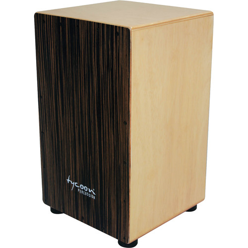 Tycoon Percussion Ebony Frontplate Siam Oak Body Box Cajon