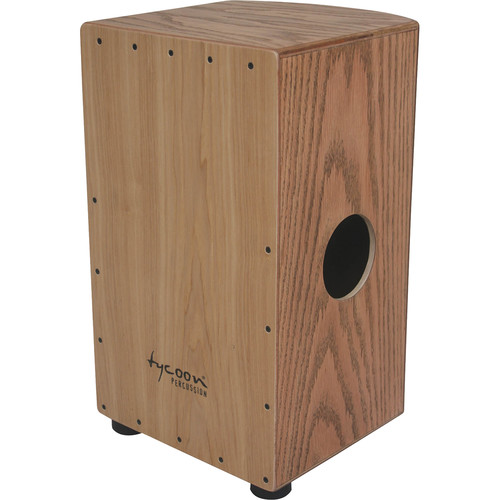 Tycoon Percussion Roundback Series Red Oak Frontplate and American Ash Body Cajon