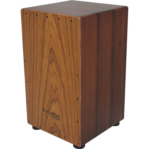 Tycoon Percussion Artist Series Asian Hardwood Frontplate Siam Oak Body Cajon (Brown colored)