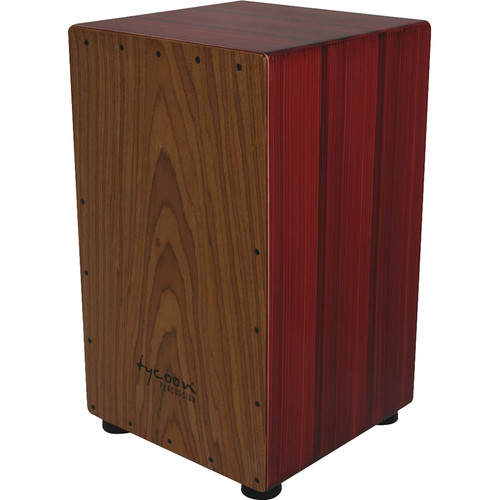 Tycoon Percussion Artist Series Asian Hardwood Frontplate Siam Oak Body Cajon (Red colored)