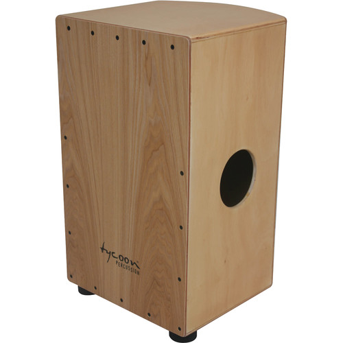 Tycoon Percussion Roundback Series American White Ash Frontplate and Siam Oak Body Cajon