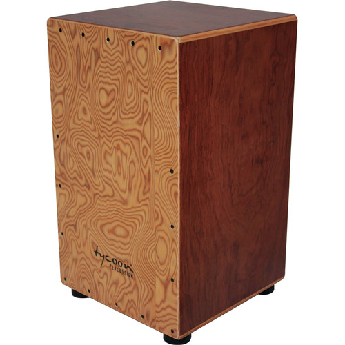Tycoon Percussion Makah Burl Frontplate Bubinga Body Box Cajon