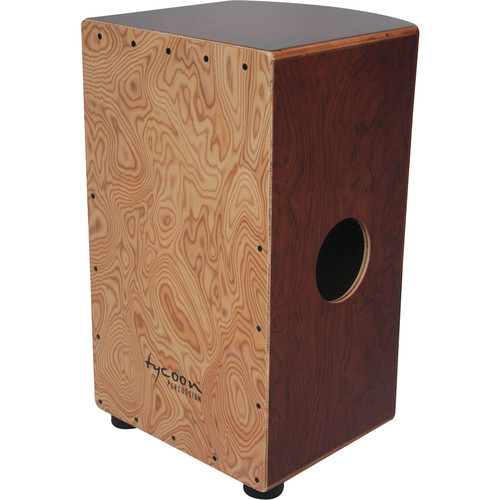 Tycoon Percussion Roundback Series Zebrano Frontplate and American White Ash Body Cajon