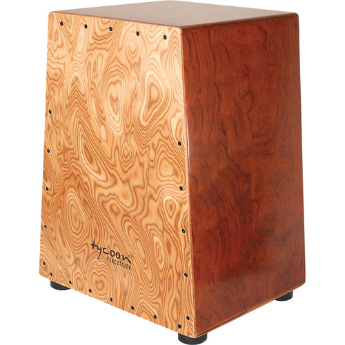 Tycoon Percussion Vertex Series Makah Burl Frontplate Bubinga Body Cajon