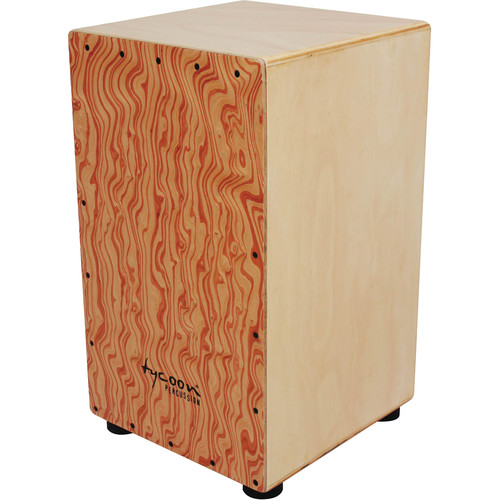 Tycoon Percussion Hand-Painted Siam Oak Frontplate Siam Oak Body Box Cajon