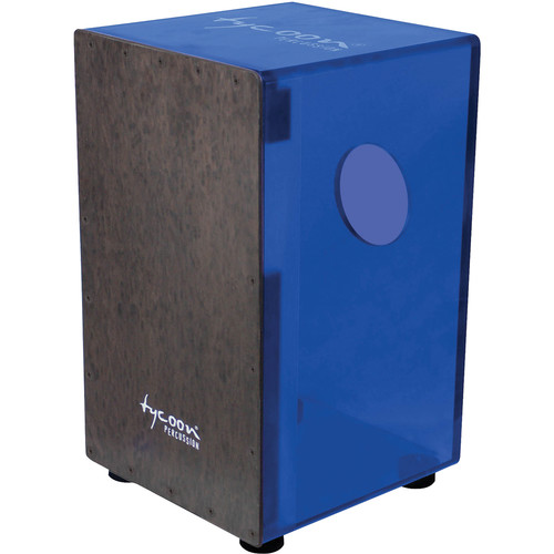Tycoon Percussion Royal Blue Acrylic Body Black Makah Burl Frontplate Cajon