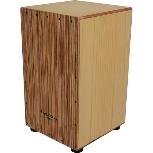 Tycoon Percussion Zebrano Frontplate American White Ash Body Box Cajon