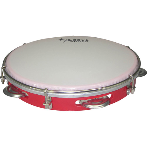 "Tycoon Percussion 10"" ABS Pandeiro (Red)"